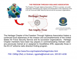 Heritage Chapter - FTVA event poster August 14 2015