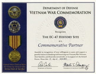The EC-47 History Site VWC certificate