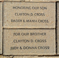 Cross, Clayton D. Daddy Mama Judy Donna Cross - VVA 457 Memorial Area B (25 of 222) (2)