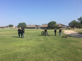 Fort Concho Soldiers on Parade Field - 2019 Memorial Day